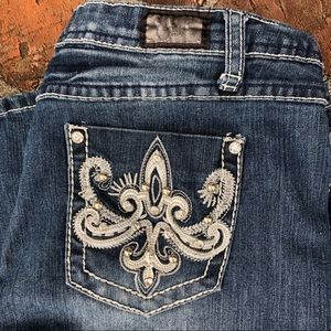 Earl jeans with embellished pockets size 12
